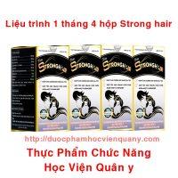 Combo 4 Hộp Viên Trị Tóc Bạc Strong Hair Học Viện Quân Y 30 Viên